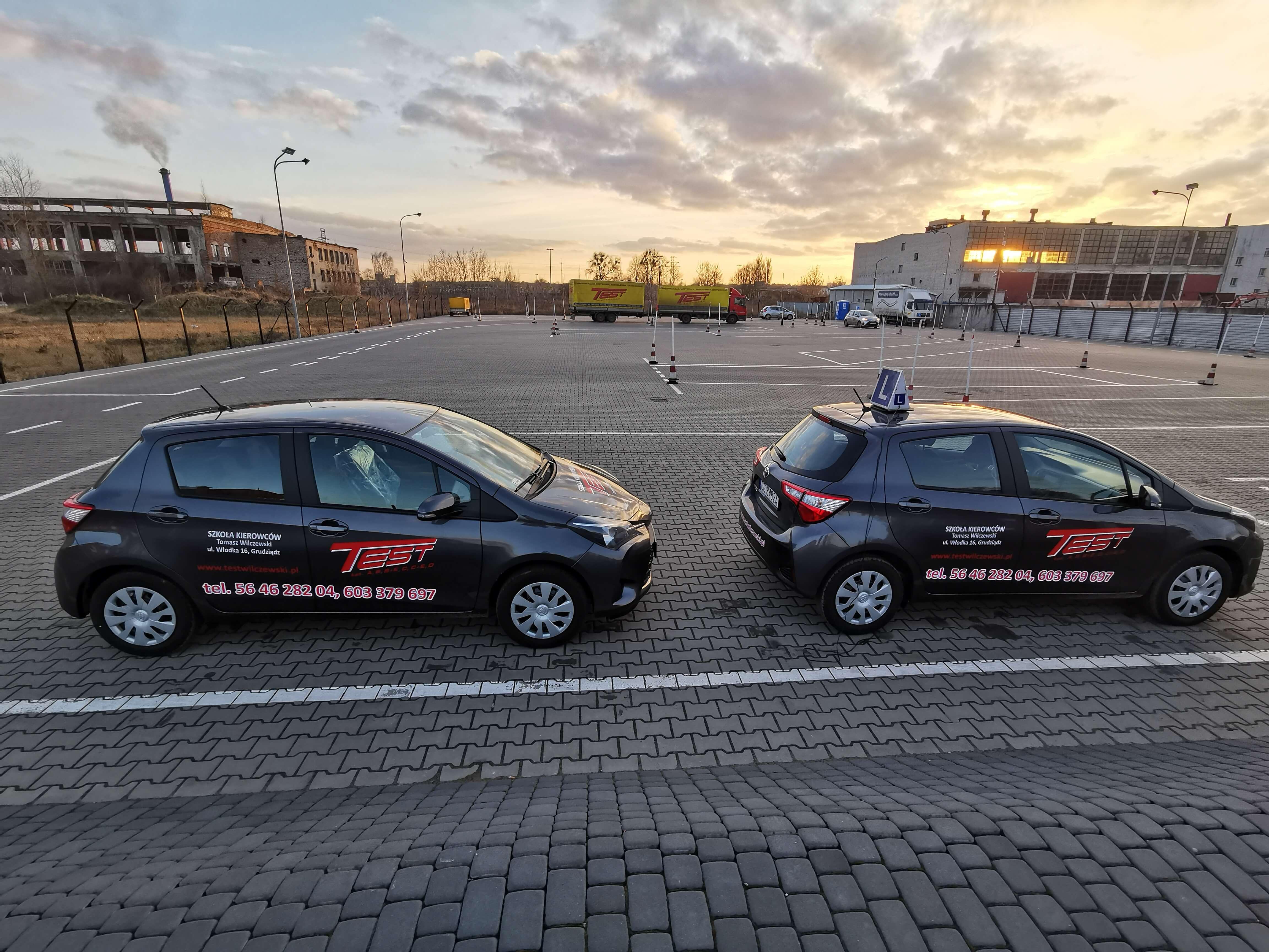 Toyota Yaris w Grudziądzu w Szkole Kierowców TEST