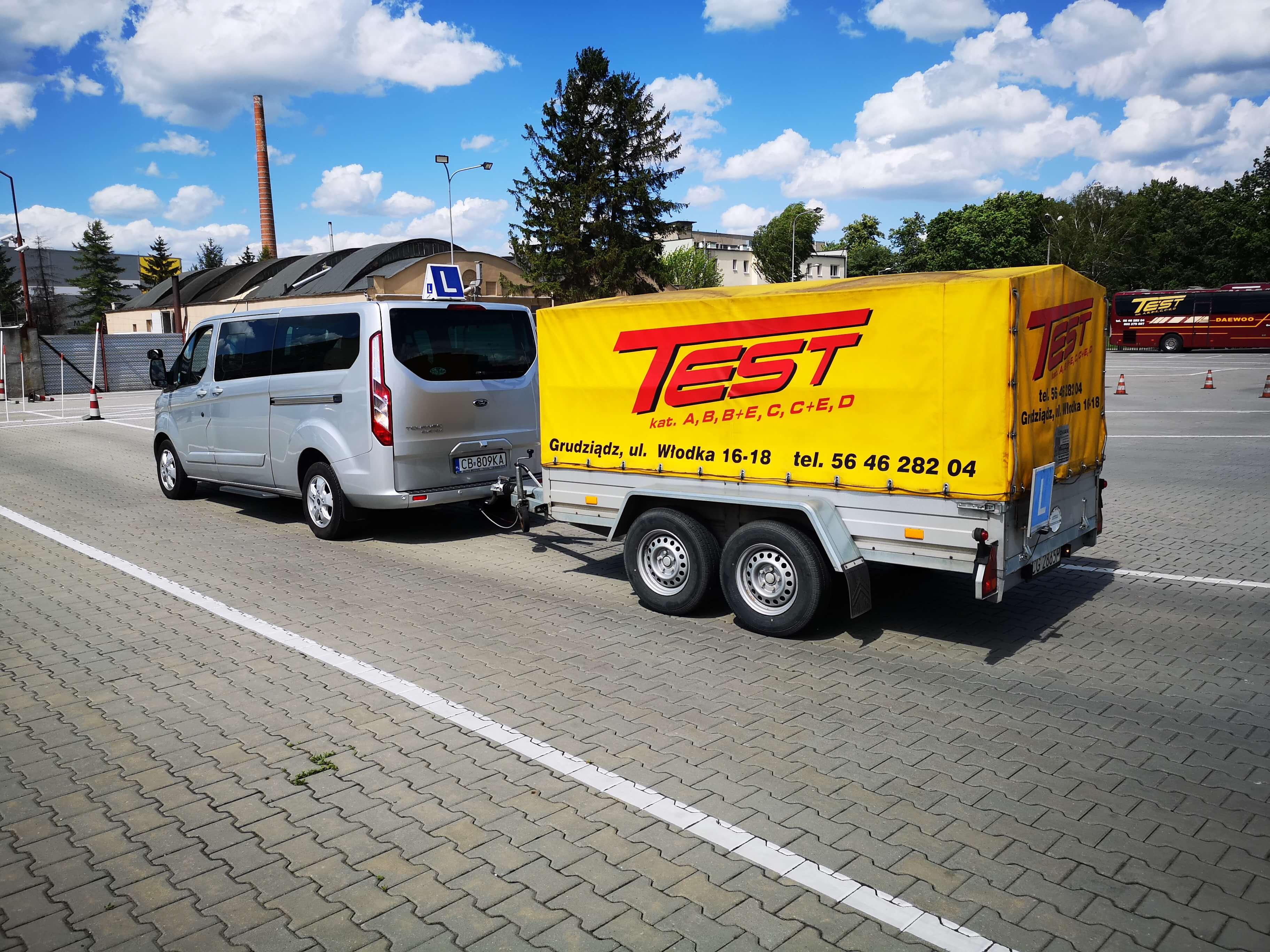 Ford Turneo Custom kat. B+E w Grudziądzu - Szkoła Kierowców TEST